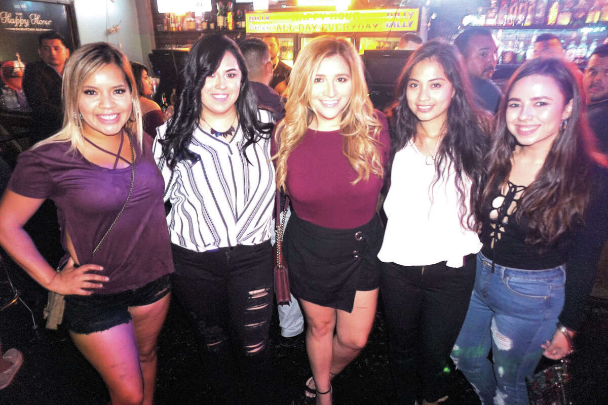 Alexa Huerta, Daria Martinez, Kelsi Duarte, Desiree David and Esperanza Mares at The Happy Hour Downtown Bar
