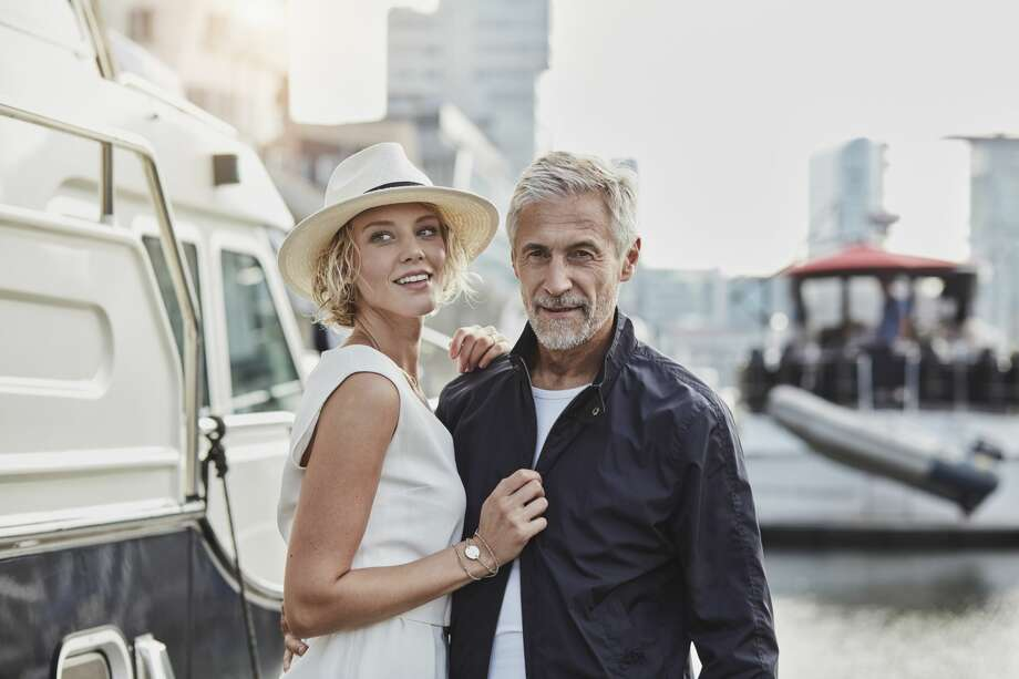 An older man feels uncomfortable being in a relationship with a younger woman. Photo: Westend61/Getty Images/Westend61