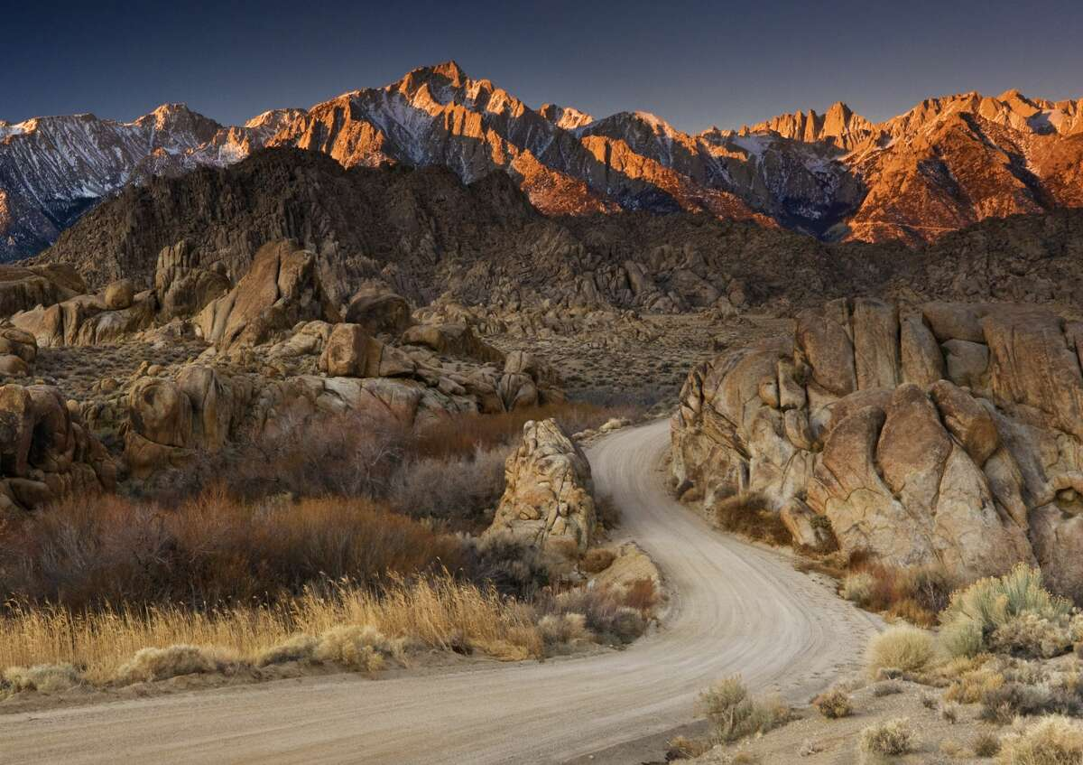 ALABAMA HILLS MOVIE ROAD Another one of Beteta's recommendations is the Alabama Hills movie road along the eastern slope of the Sierra Nevada in Inyo County. Its nickname comes from the many films shot in the area, from