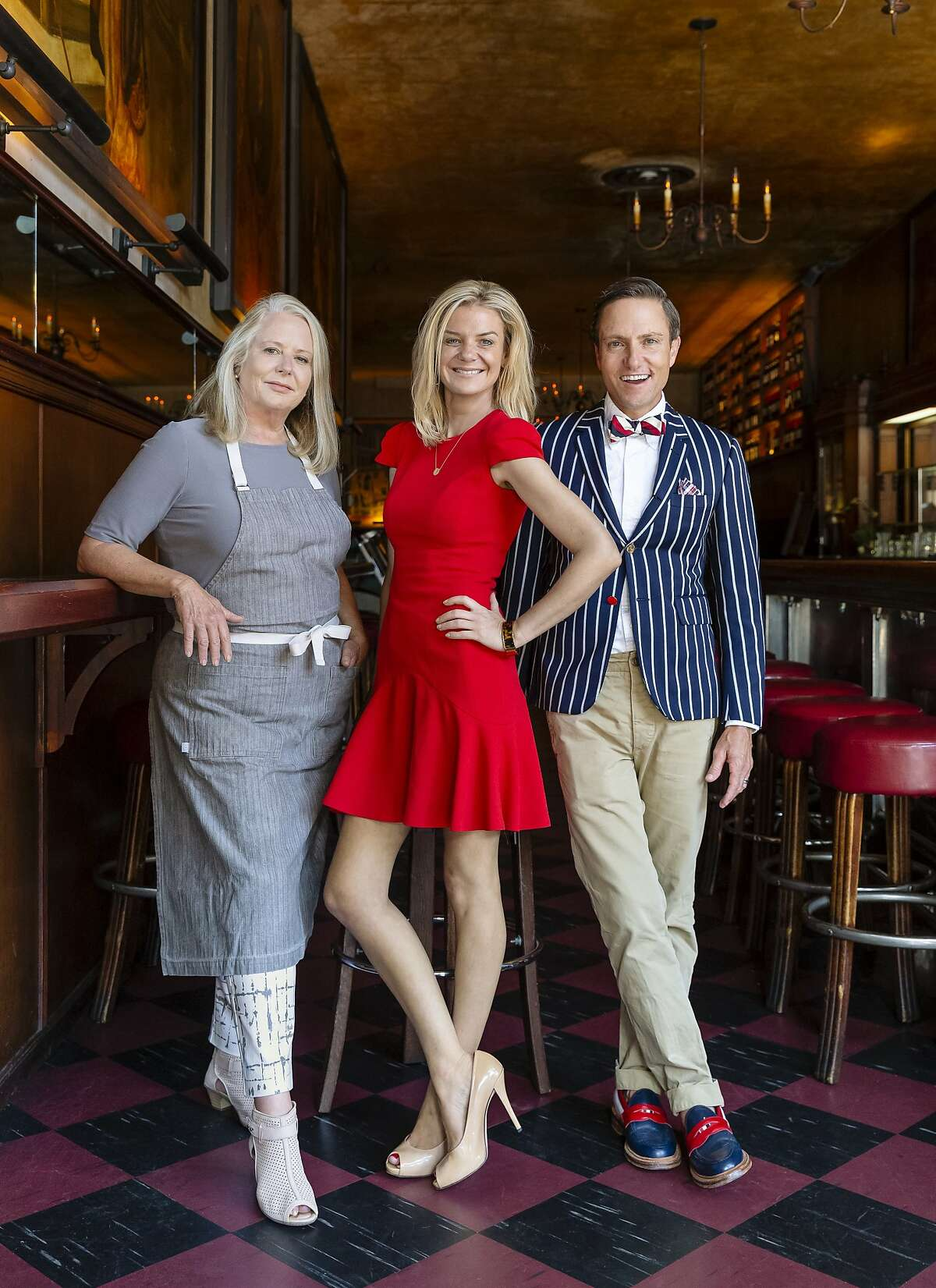 Tosca's new owners (from left to right): Nancy Oakes, Anna Weinberg, Ken Fulk