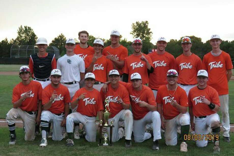 Pictured above are the Midland Tribe: (front row, from left)Jarred Cooper, Alex Dingee, Jake Ryan, Eric Wrozek, Nick Hartner, Dyre Leonard, Drew Long; (back row, from left)Tanner Gilles, Andy Sills, Larry Wood, Evan Pocius, Josh Riggs, Clay Crouterfield, Ryan Longstreth, Sean O'Keefe, Jack Rossbach.