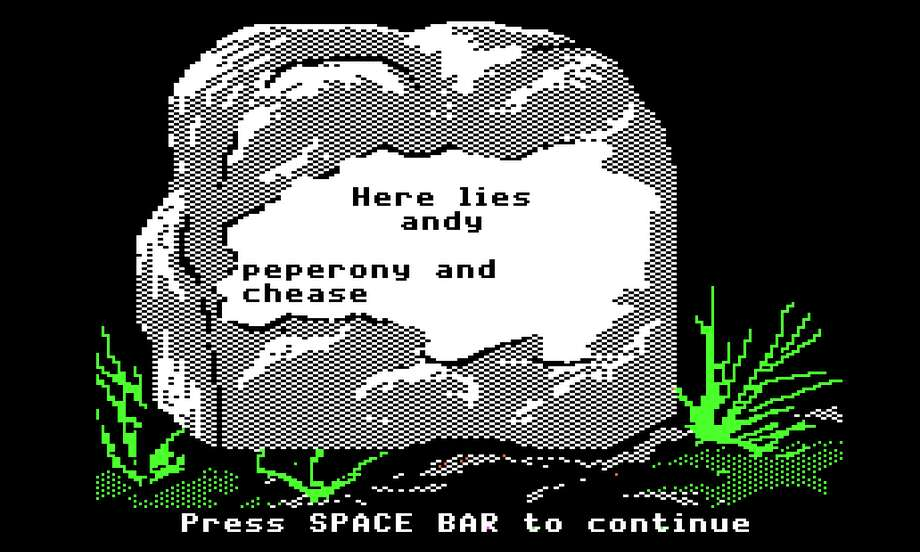 Graves were common on the real Oregon Trail, but their etchings may not have been as funny as they were in the game. Photo: Oregon Trail Game