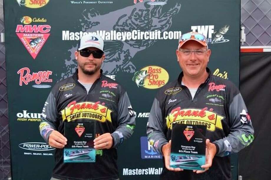 Midland's Jason Maraskine, right, and angling partner Tyler Andrzejewski took eighth out of 84 teams last week ata Cabela's Master Walleye Circuit event in Green Bay, Wis. (Photo provided)