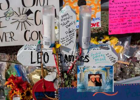 Signs and crosses adorn the makeshift memorial for victims of the shooting that left a total of 22 people dead at the Cielo Vista Mall Walmart, in El Paso, Texas, on August 7, 2019. (Photo by Mark RALSTON / AFP)MARK RALSTON/AFP/Getty Images