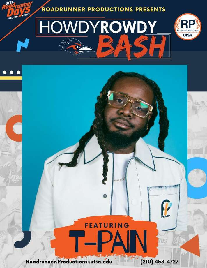 "On Aug. 30, the university will host a ""one-of-a-kind"" evening at Six Flags Fiesta Texas called Howdy Rowdy Bash, with T-Pain headlining. Photo: UTSA"