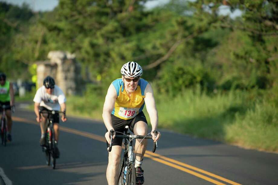 Greenwich resident Tom Brust has competed in the Greenwich Cup Triathlon for 30 consecutive years — an event record. Photo: Jeff Yardis / Contributed Photo / Stamford Advocate Contributed