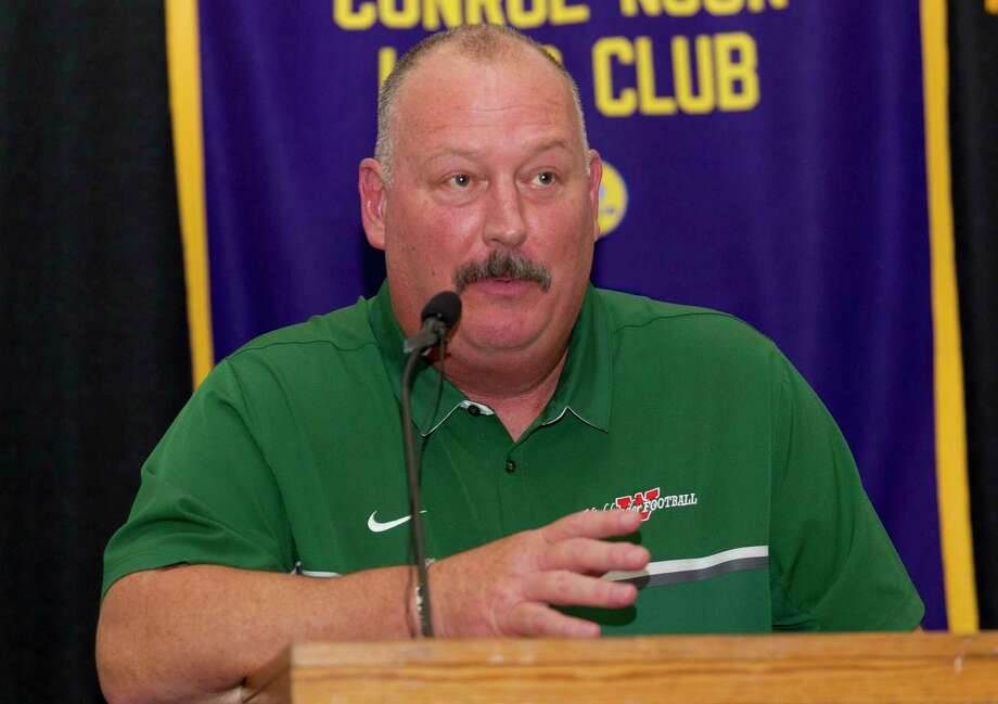 The Woodlands head coach Jim Rapp speaks during the 44th annual Conroe Noon Lions Club Buddy Moorhead Pigskin Preview at the Lone Star Convention & Expo Center, Wednesday, Aug. 7, 2019, in Conroe. Photo: Jason Fochtman, Houston Chronicle / Staff Photographer / Houston Chronicle