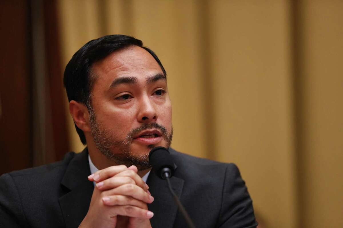 Representative Joaquin Castro, (D), in July 2019. Joaquin Castro says his Twitter post naming Donald Trump?•s most generous San Antonio supporters was aimed at halting Facebook ads that disparage Hispanics.. Photographer: Andrew Harrer/Bloomberg
