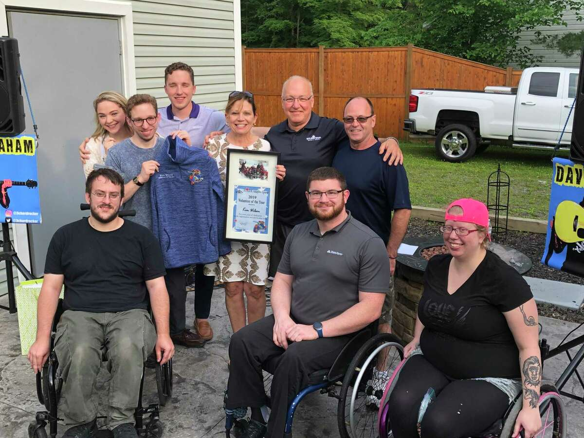 Kim Wilson of Slingerlands has been named STRIDE Adaptive Sports' Volunteer of the Year for 2019. Wilson, the parent of STRIDE athlete and sled hockey player Luke Wilson, was given the award for founding the STRIDE sled hockey team and tirelessly supporting other STRIDE programs such as whitewater rafting and skiing.