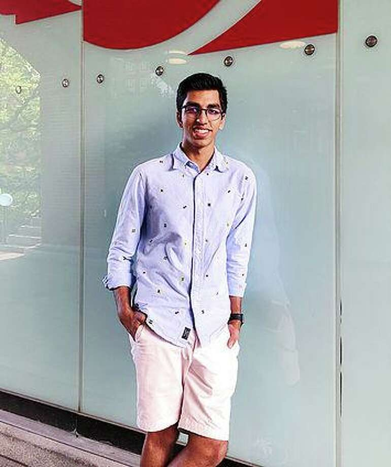 Siddharth Jain, a rising Shelton High senior, has started a website through which students can donate and obtain free test prep materials. Photo: Contributed Photo / Copyright 2019. All rights reserved.