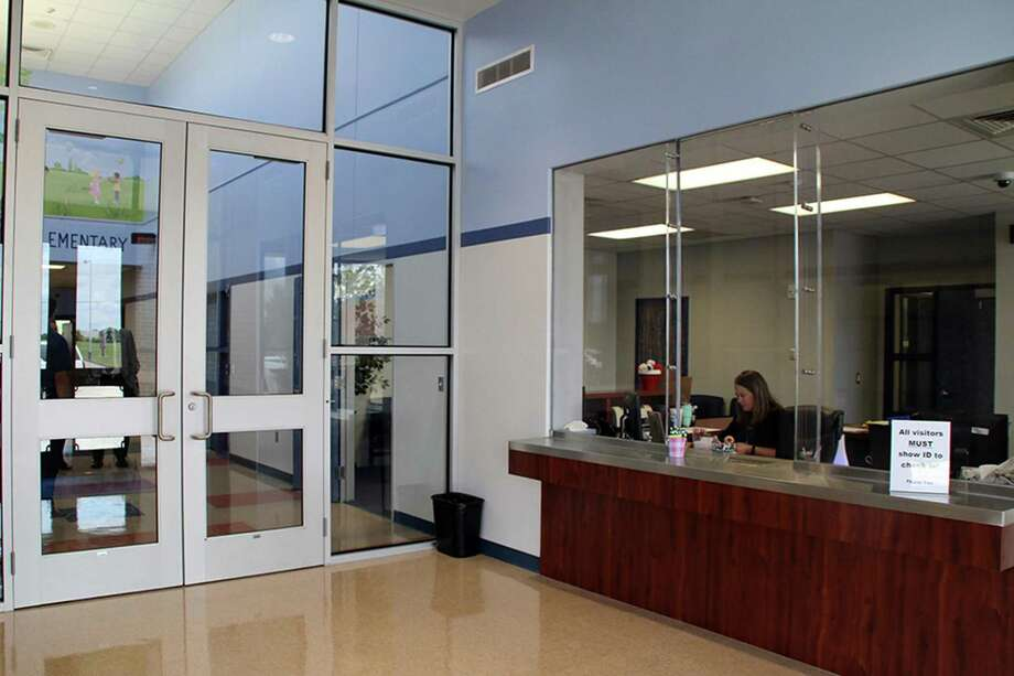 All 23 campuses in Pearland ISD now have security vestibules in the front entrance. Pictured is the security vestibule at Silvercrest Elementary School. Photo: Courtesy Photo