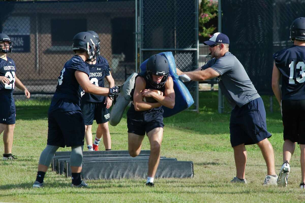 Bay Area Christian, shown in August football workouts, will attempt to make another lengthy run in the playoffs this fall.
