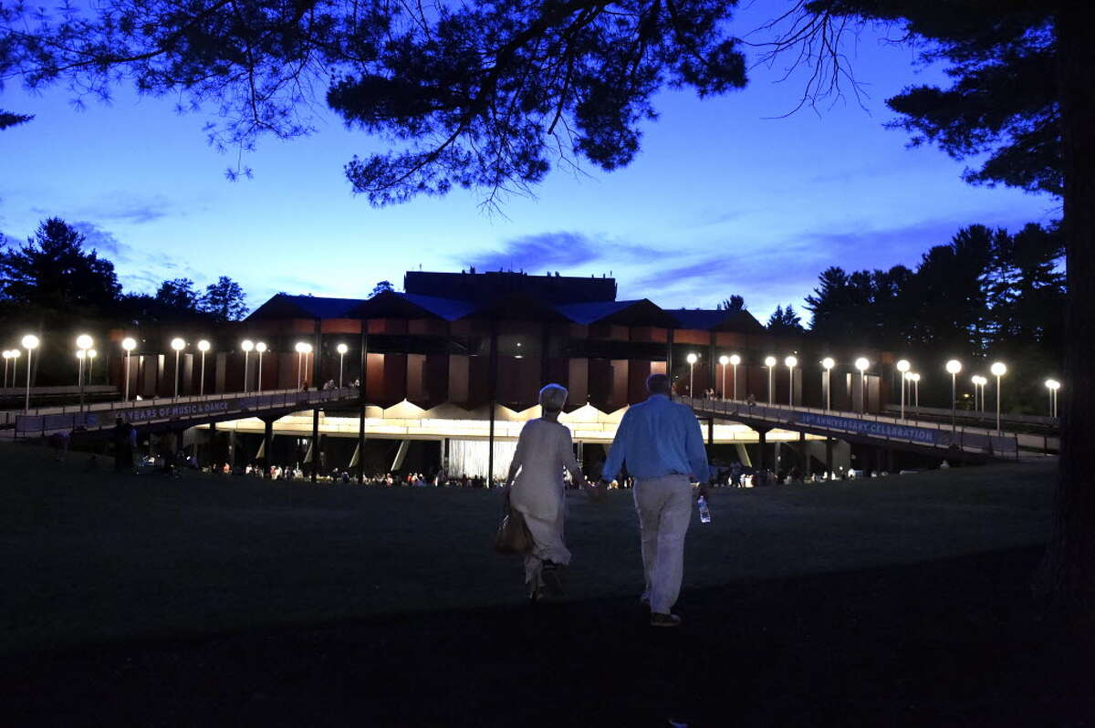 A view of Saratoga Performing Arts Center in the evening. The Philly Orchestra performed at SPAC Wednesday night.