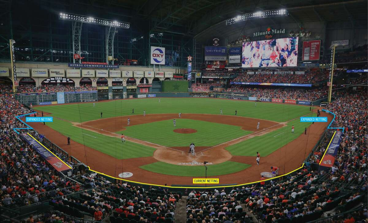 The Houston Astros announced today that the protective netting inside Minute Maid Park will be both upgraded and extended to cover more of the seating area.