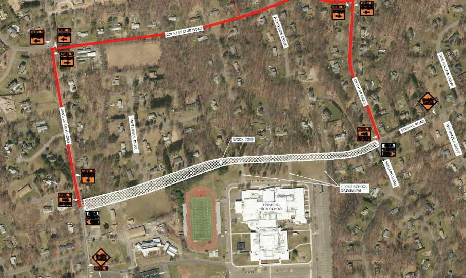 The planned Strobel Road reconstruction project is scheduled to begin later this month. Photo: /Town Of Trumbull