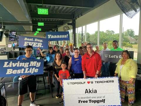 Cy-Fair ISD special education teacher wins year of free Topgolf