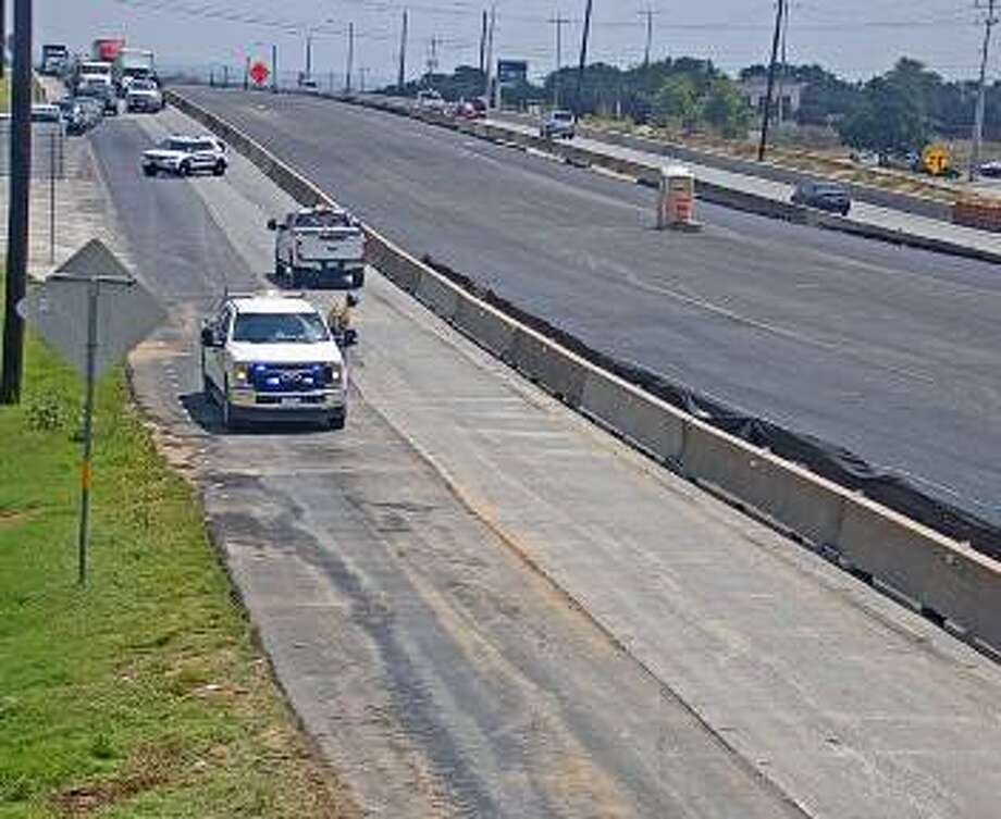 Expect delays in the far Northeast Side of San Antonio after a gravel truck dropped its load on Loop 1604 this afternoon, according to a Texas Department of Transportation tweet. Photo: TxDOT
