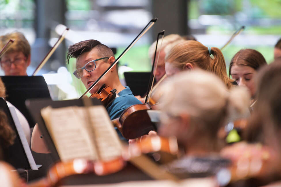 Amanda LaPell, an instructor at the Glens Falls Music Academy, takes part in the third annual