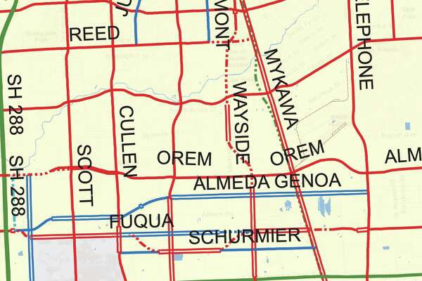 Maps show Houston's wish list for roads throughout the city