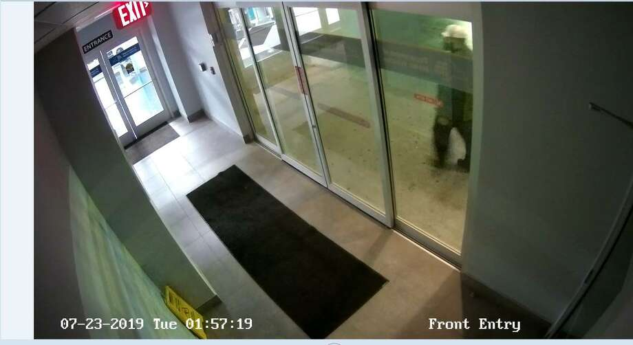 Albany police released two photos Thursday, Aug. 8, 2019, showing the man suspected of opening fire on a Central Avenue building that houses the Department of Motor Vehicles and Planned Parenthood, asking for the public's help in identifying him. The incident happened on July 23.Anyone with information is asked to call Albany Police detectives at 518-462-8039 or send an anonymous tip to Capital Region Crime Stoppers. Photo: Albany Police