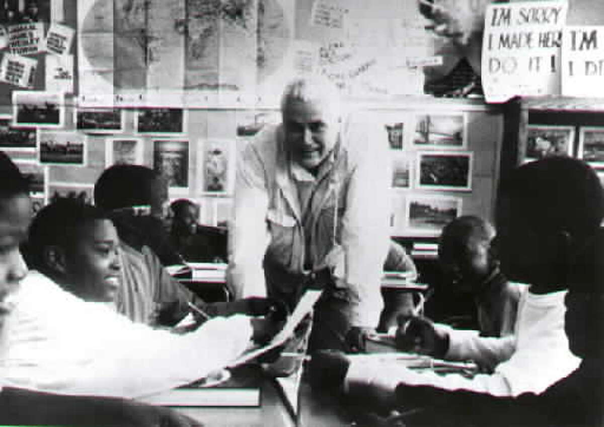 John Taylor Gatto in his classroom the year he was named New York's Teacher of the Year. (Times Union archive.)