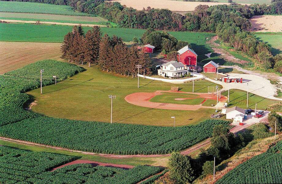 "An aerial view of the famous ""Field of Dreams"" in Dyersville, Iowa, where the classic 1989 movie was filmed. Photo: Phil Velasquez / Chicago Tribune"