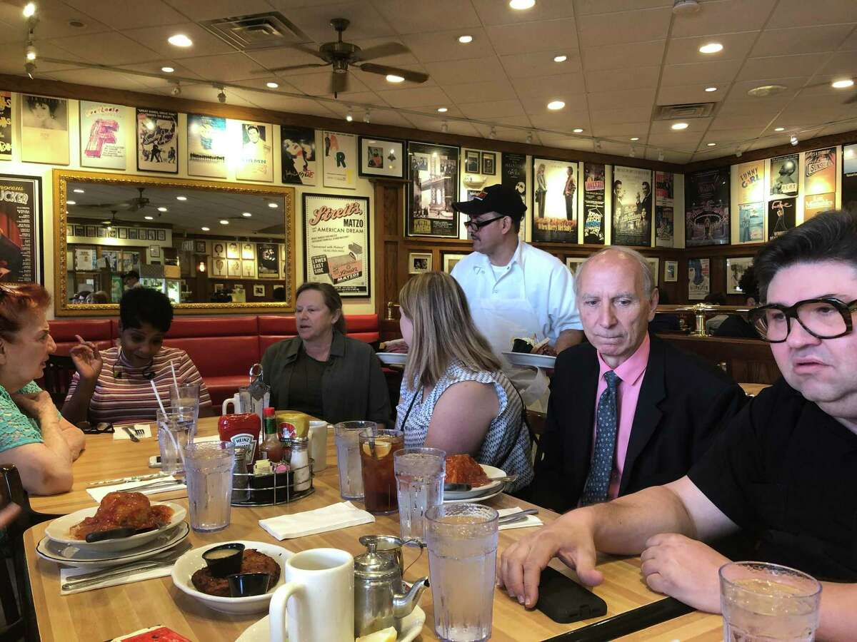 Kenny & Ziggy's New York Delicatessen Restaurant hosts a luncheon for Holocaust survivors and liberators on Tuesday, Aug. 6. The event was to build awareness around National Deli Month, which is raising funds for the Holocaust Museum Houston.
