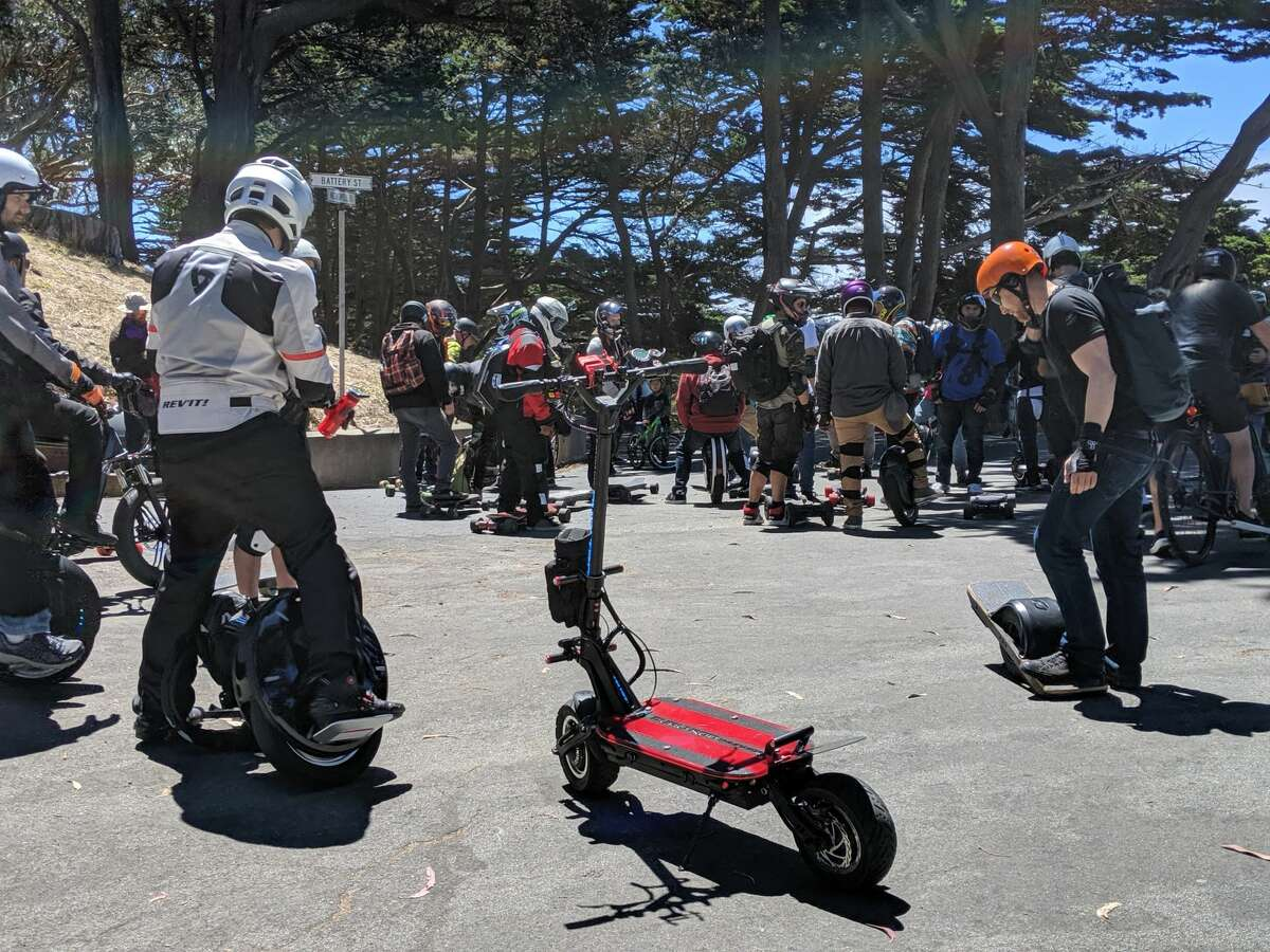 The squad takes a break in Golden Gate Park on August 3, 2019 in San Francisco.