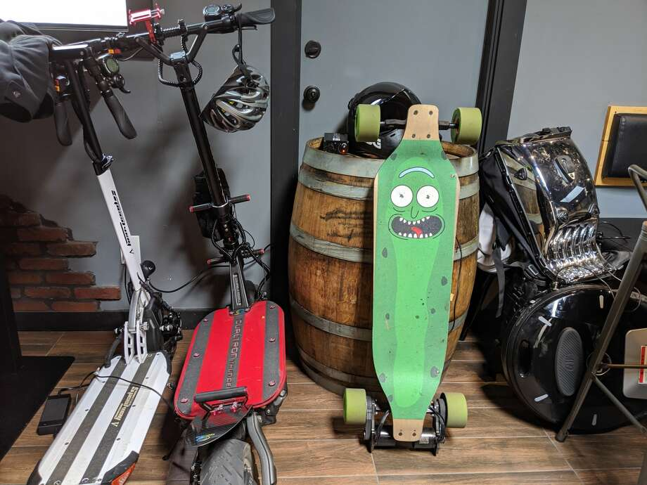 Pickle Rick from Rick and Morty made a special appearance on August 3, 2019 in San Francisco. Photo: Dan Gentile
