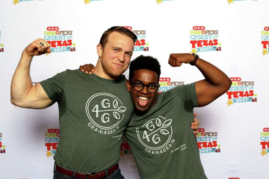 Grain4Grain founders Matthew Mechtly and Yoni Medhin won third place honors and $10,000 in the 2019 H-E-B Quest for Texas Best contest. Photo: H-E-B