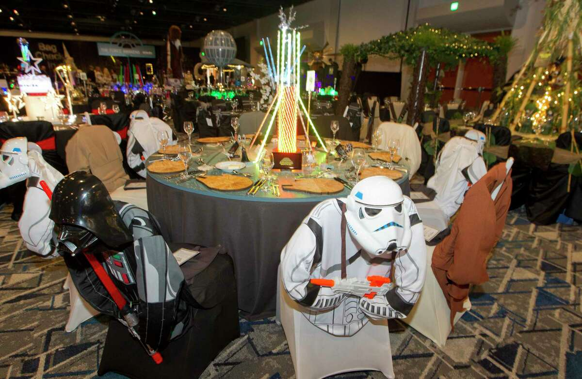 The Woodlands Area Chamber of Commerce is hosting their 41st annual Chairman's Ball beginning at 6 p.m. Aug. 17. Here, Star Wars themed table decorations are seen during the annual The Woodlands Area Chamber of Commerce Chairman's Ball at The Woodlands Marriott Hotel & Convention Center on Saturday, Aug. 18, 2018, in The Woodlands. The event honored outgoing chairman Frank Holmes and welcomed incoming chairman Stuart Lapp.