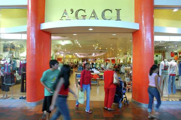 Shoppers pass the A'Gaci store in North Star Mall in this scene from 2005.