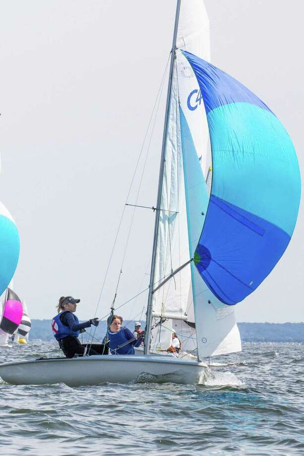 Indian Harbor Yacht Club in Greenwich hosted the Junior Sailing Association of Long Island Sound hosted the Laser, Laser Radial and C420 Championships this week. Maddie Saffer of American Yacht Club in Rye, N.Y., was the Laser Radial champion at the regatta. Photo: M.A. Fisher /Contributed Photo