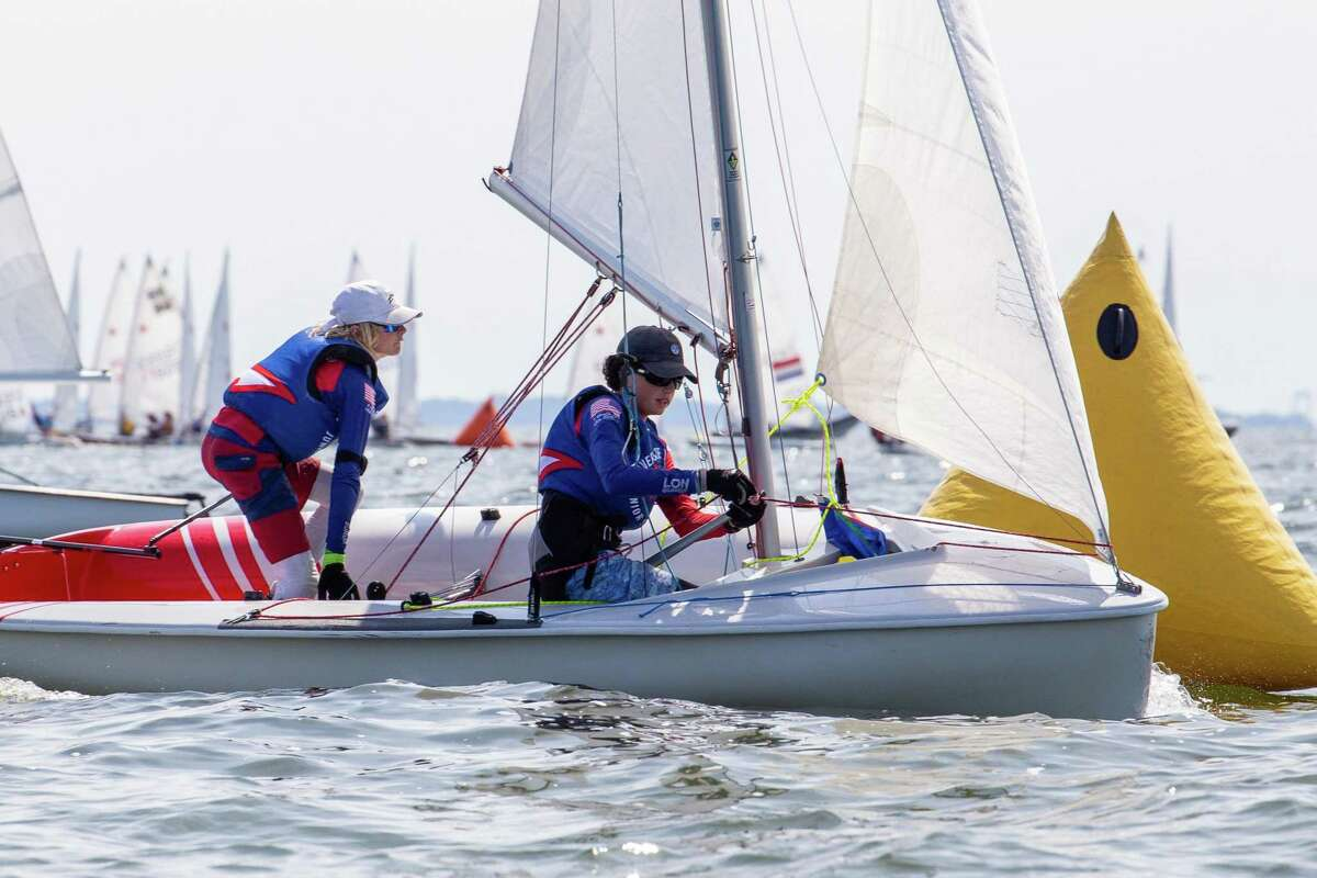Freddie Parkin and Thomas Whidden of Riverside Yacht Club sailed to a first-place finish in the C420 competition at the JSA C420/Radial Championships, which was hosted by Indian Harbor Yacht Club on Monday, Aug. 5 and Tuesday, Aug. 6, 2019, in Greenwich.