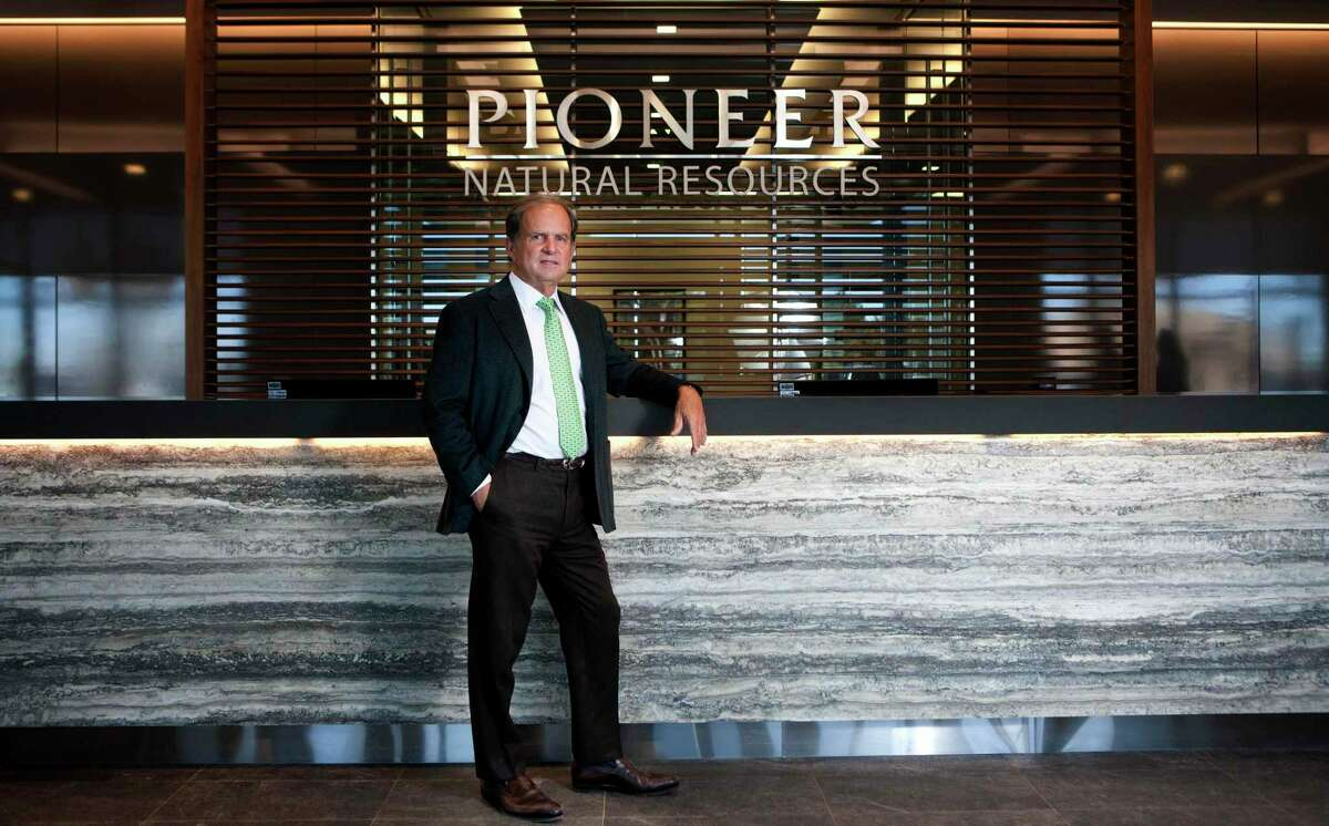 Scott Sheffield, CEO of Pioneer Natural Resources, in portrait Wednesday, Feb. 18, 2015 at the Pioneer building on N. Big Spring in Midland. James Durbin/Reporter-Telegram