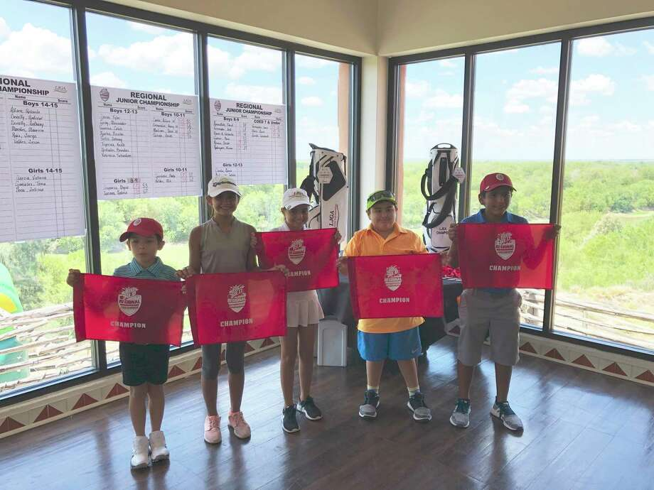 Champions are pictured from the Big Red Regional Jr. Golf Championship. The 2019 LJGA Summer Tour event featured 54 golfers ages 6-18 in 11 divisions Monday at the Max A. Mandel Municipal Golf Course. Photo: Courtesy Of The LJGA