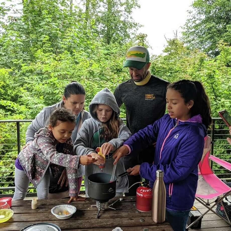 Chef Corso works with the Girl Scouts of Western Washington, bringing awareness to easy and healthy meals to create in the outdoors. Photo: Courtesy MONTyBOCA