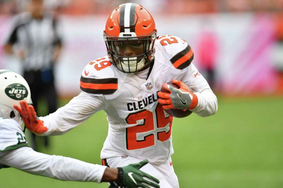 CLEVELAND, OH - OCTOBER 08: Duke Johnson #29 of the Cleveland Browns runs with the ball in the game against New York Jets  at FirstEnergy Stadium on October 8, 2017 in Cleveland, Ohio. (Photo by Jason Miller/Getty Images) ORG XMIT: 700070666 Photo: Jason Miller / 2017 Getty Images