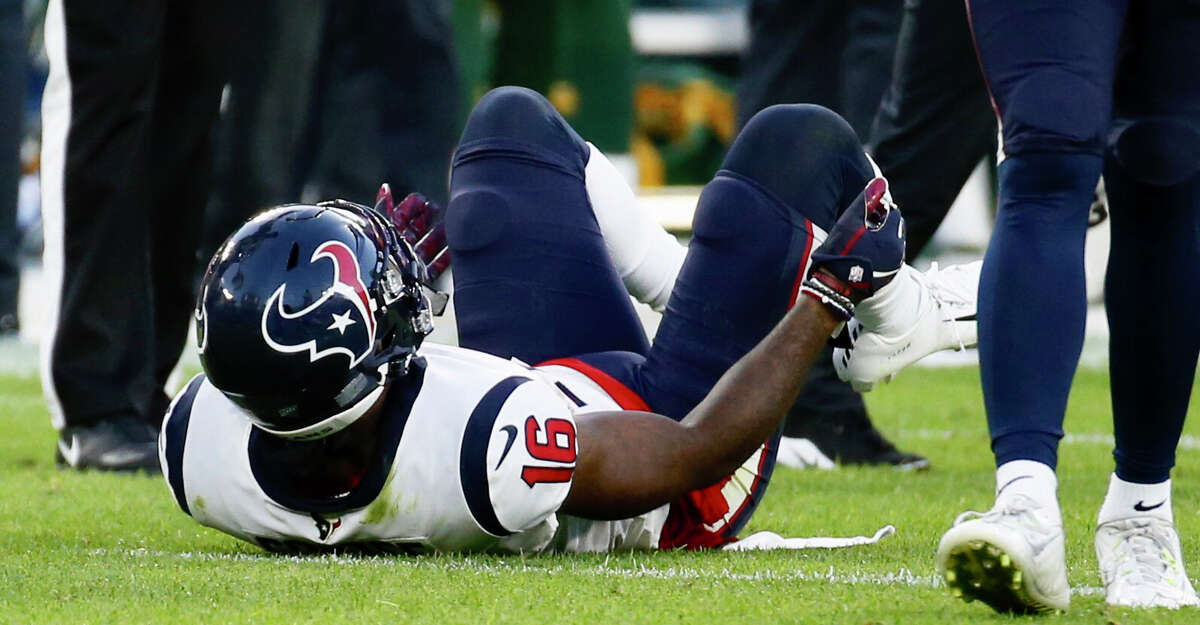 PHOTOS: Texans preseason vs. Cowboys Houston Texans wide receiver Keke Coutee lies on the turf after suffering an injury during a preseason NFL football game against the Green Bay Packers from the bench at Lambeau Field in Thursday, Aug. 8, 2019, in Green Bay, Wis. >>>Look back at photos from the Texans' third preseason game this season ...