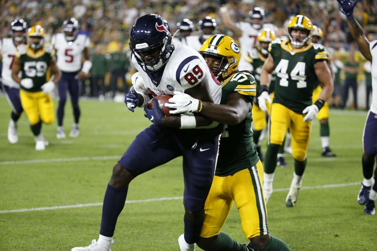 PHOTOS: Texans preseason vs. Rams Houston Texans tight end Jerell Adams (89) hauls in a touchdown reception during the second half of a preseason NFL football game against the Green Bay Packers from the bench at Lambeau Field in Thursday, Aug. 8, 2019, in Green Bay, Wis. >>>See photos from the Texans' preseason finale against the Rams on Thursday, Aug. 29, 2019 ...