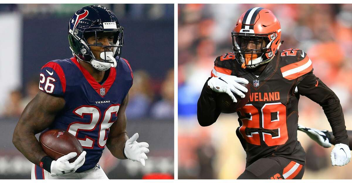 PHOTOS: Texans vs. Packers Split photo of running back Lamar Miller and new Texans running back Duke Johnson. Browse through the photos to see action from the Texans' first game of the preseason.