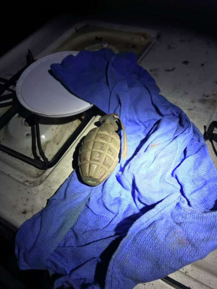 Norwich police found what appeared to be a live grenade while executing a search and seizure warrant. Photo: Norwich Police Department