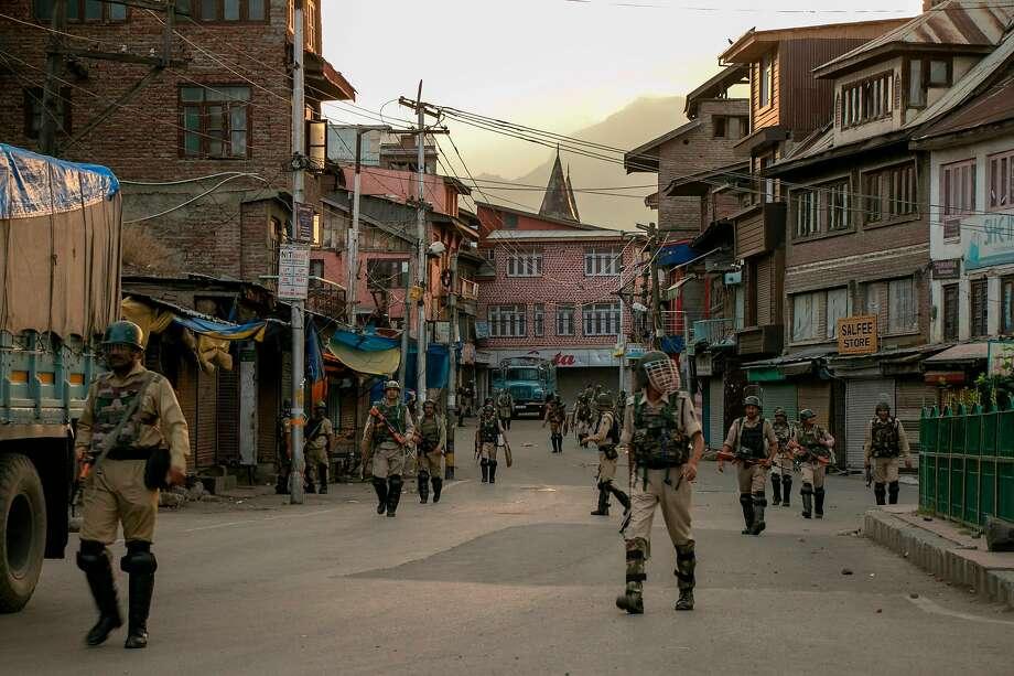 Curfew eased in Kashmir for prayers as tensions in region spike - SFGate