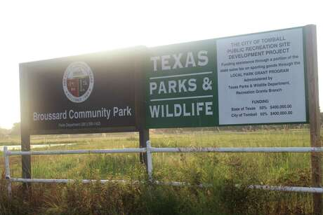 Broussard Community Park is a project of the city of Tomball being carried out with the help of a grant from Texas Parks and Wildlife.