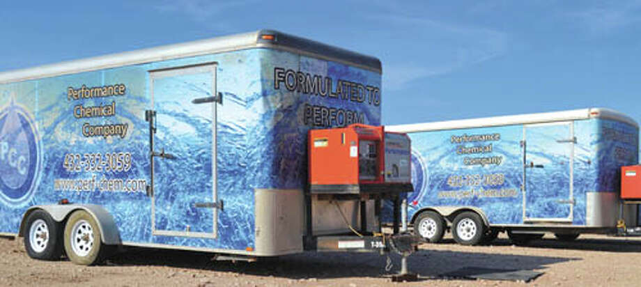 Today's investment economy requires producers to reduce  costs wherever possible, and eliminating the high costs of overtreating  frac water fulfills that demand. Performance Chemical Company's  'Automated Water Treatment Trailer for Processing Multiple Fluids  Simultaneously' has already worked for more than 20 Permian Basin  producers - you can be next! Call PCC at (432) 332-3059 to learn more. As a Federal Requirement PCC is FracFocus capable and has  the programming to input all product information into the Beta System  for FracFocus. Photo: Courtesy Photo