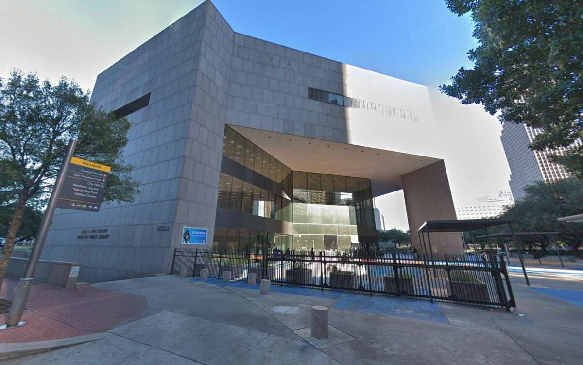 HOUSTON CENTRAL LIBRARY, JESSE H. JONES BUILDING 500 McKinney St. Saturday, 10 a.m. to 6 p.m. Sunday, noon to 6 p.m.
