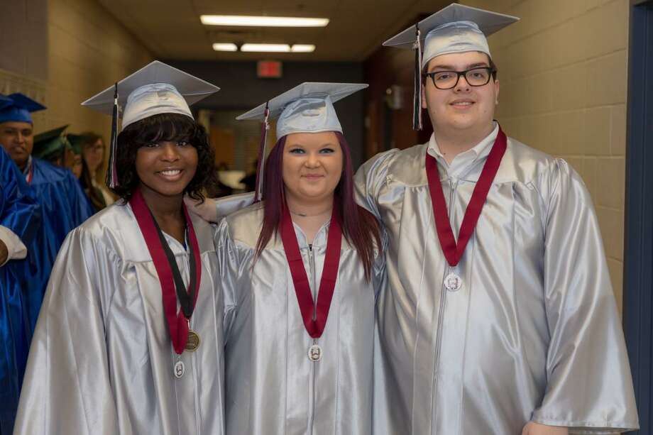 During the Conroe Independent School District summer commencement ceremony held Aug. 1 at The Woodlands College Park High School, 42 students received their high school diplomas. Photo: Conroe ISD / Submitted Photos