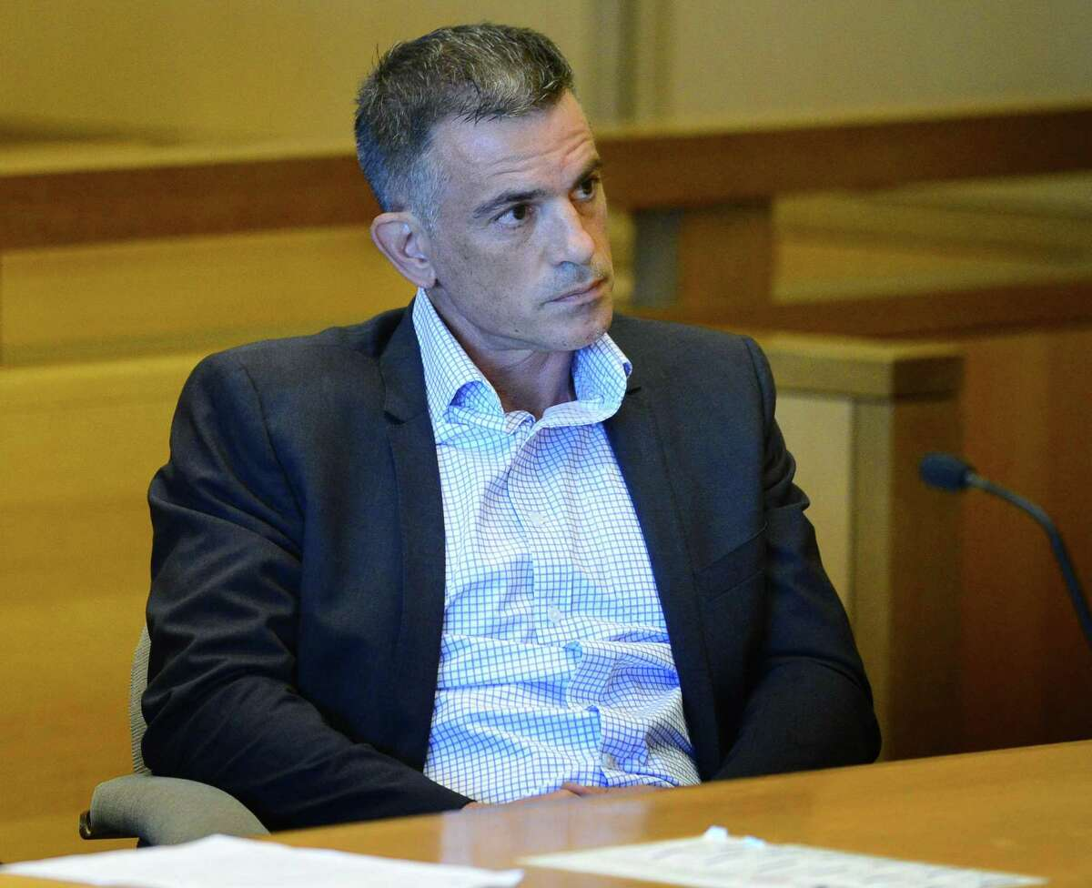 File photo of Fotis Dulos in court in Stamford, Conn., on Friday, Aug. 9, 2019.