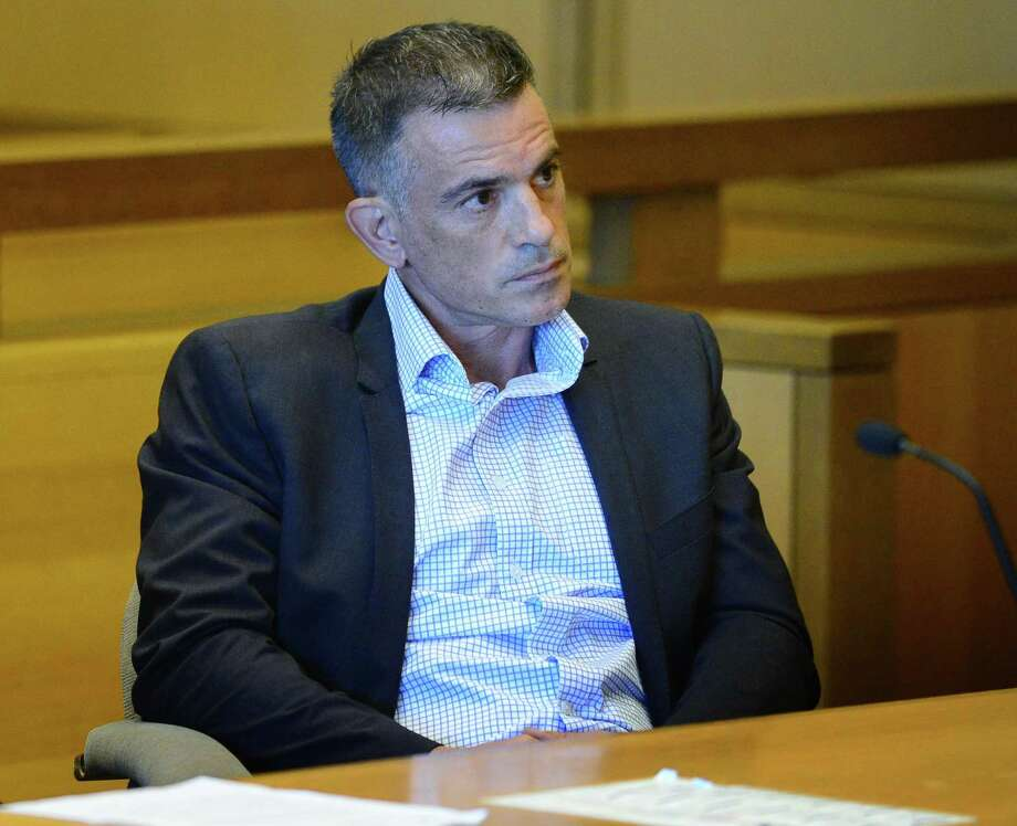 Fotis Dulos, charged with tampering with evidence and hindering prosecution in connection with his wife's disappearance, appears in Stamford Superior Court on Aug. 9. Photo: Erik Trautmann / Hearst Connecticut Media / Norwalk Hour