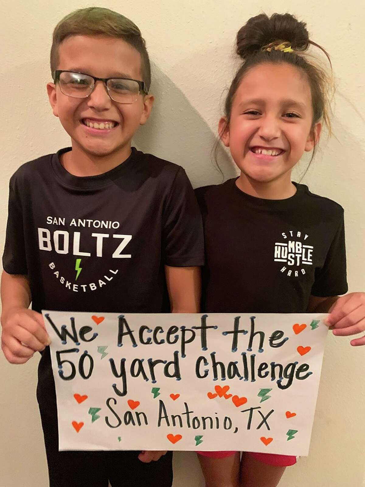 Meet brother-sister duo Nathan and Zoe, 12 and 10, respectively. They recently accepted the nationwide 50 Yard Challenge created by Rodney Smith Jr., the man who made headlines for his goal of cutting yards in all 50 states.